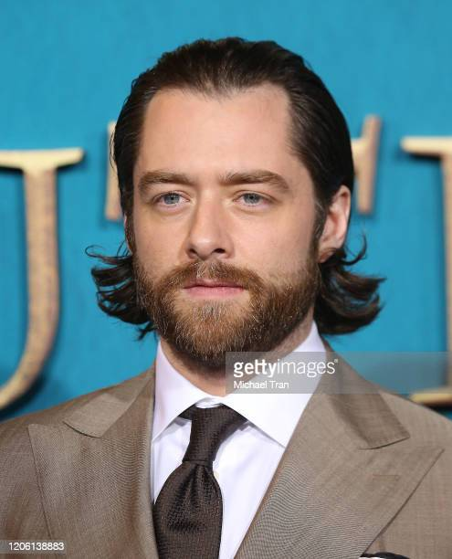 """Richard Rankin attends the Los Angeles Premiere of Starz's """"Outlander"""" Season 5 held at Hollywood Palladium on February 13, 2020 in Los Angeles,..."""