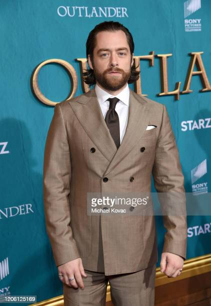 """Richard Rankin attends the Starz Premiere event for """"Outlander"""" Season 5 at Hollywood Palladium on February 13, 2020 in Los Angeles, California."""