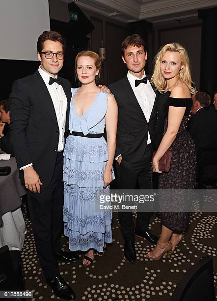 Richard Rankin, Cara Theobold, Ben Lloyd-Hughes and Emily Berrington attend the IWC Schaffhausen Dinner in Honour of the BFI at Rosewood London on...