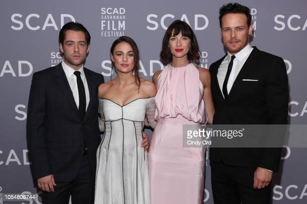 "Richard Rankin, Sophie Skelton, Caitriona Balfe, and Sam Heughan attend the 21st SCAD Savannah Film Festival Red Carpet for ""Outlander"" Season Four..."
