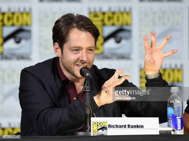 Richard Rankin speaks onstage at ComicCon International 2017 Brave New Warriors panel at San Diego Convention Center on July 21 2017 in San Diego...