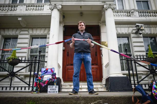 GBR: Husband Of Nazanin Zaghari-Ratcliffe Keeps Vigil At Iranian Embassy In London