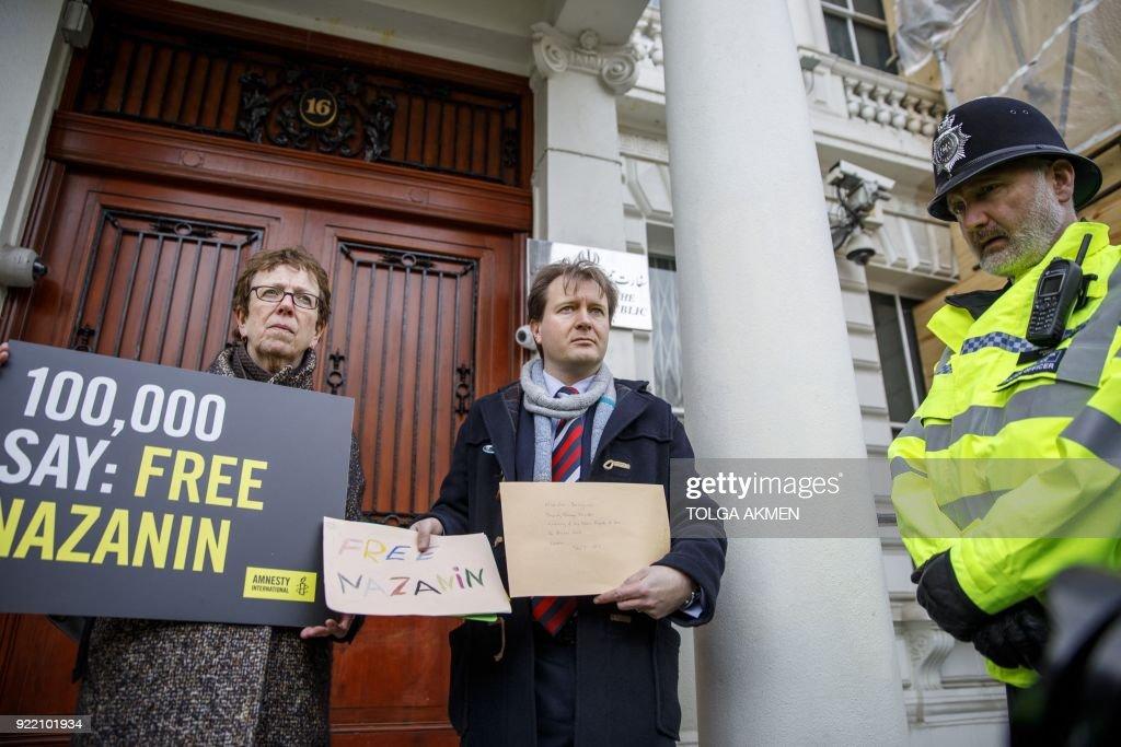 BRITAIN-IRAN-RIGHTS : News Photo