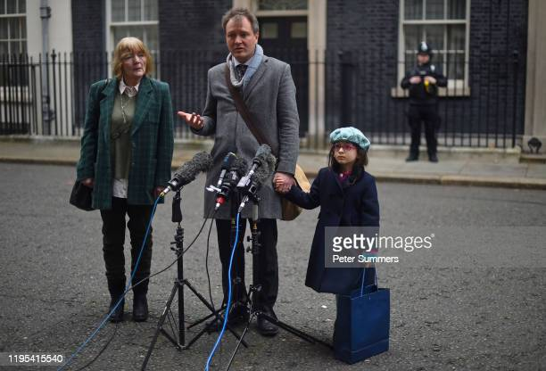 Richard Ratcliffe, husband of the jailed British-Iranian woman Nazanin Zaghari-Ratcliffe currently being held in Iran, addresses the press with...