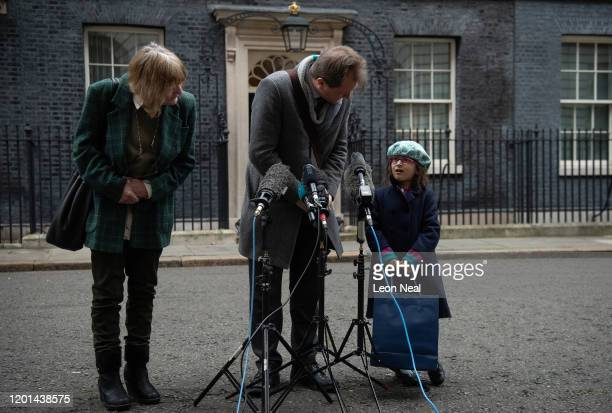 Richard Ratcliffe, husband of the jailed British-Iranian woman Nazanin Zaghari-Ratcliffe currently being held in Iran, speaks to his daughter...