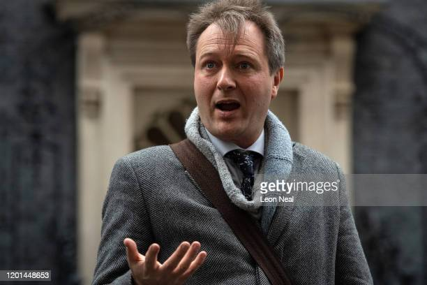 Richard Ratcliffe, husband of the jailed British-Iranian woman Nazanin Zaghari-Ratcliffe currently being held in Iran, addresses the press in Downing...