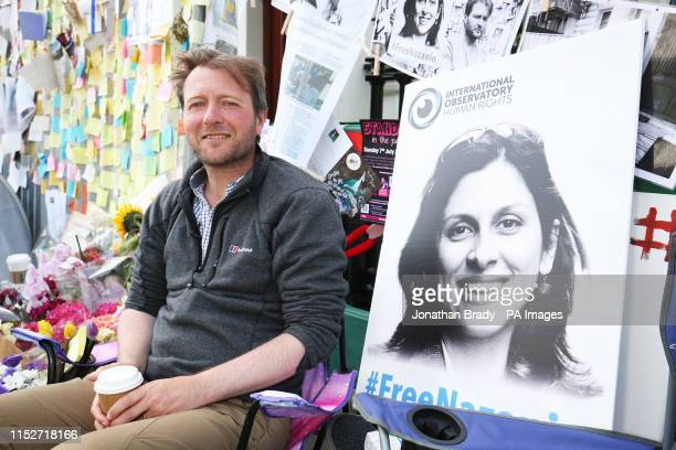 Richard Ratcliffe, the husband of detained Nazanin Zaghari Ratcliffe, outside the Iranian Embassy in Knightsbridge, London. Ratcliffe has today ended...