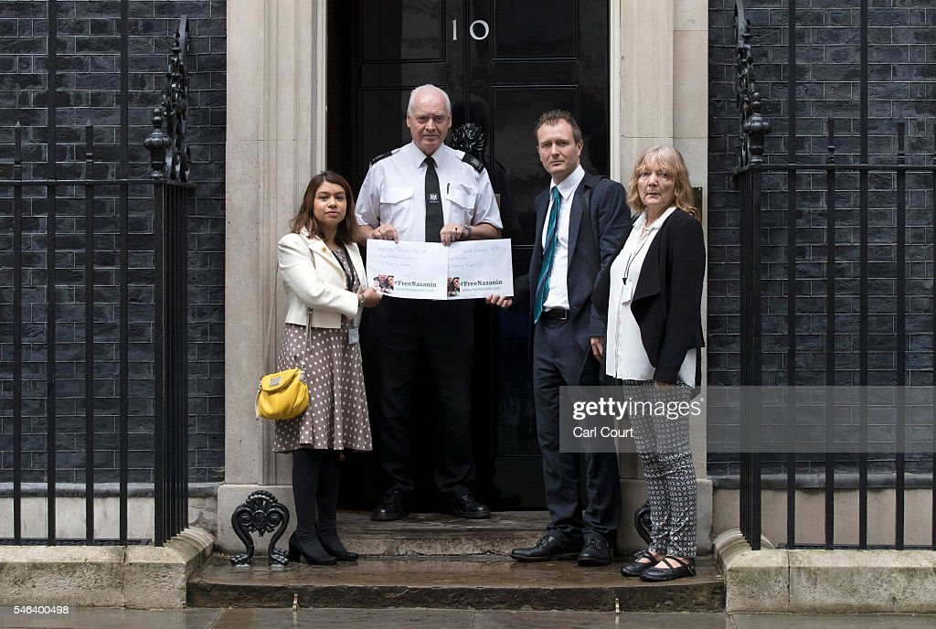 Husband Of Woman Held Prisoner In Iran Presents Petition In Downing Street