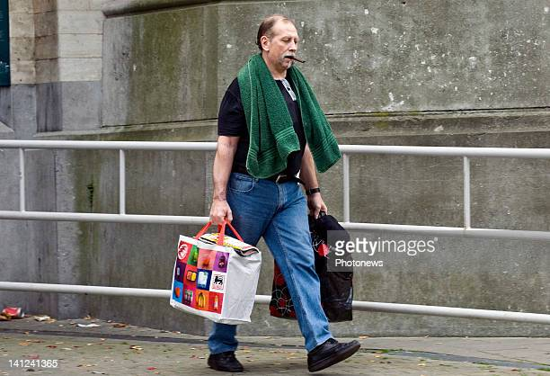 Richard Remes walks with shopping on October 52010 in BrusselsBelgium Richard Remes is on trial for the attempted murder of Patricia Lefranc