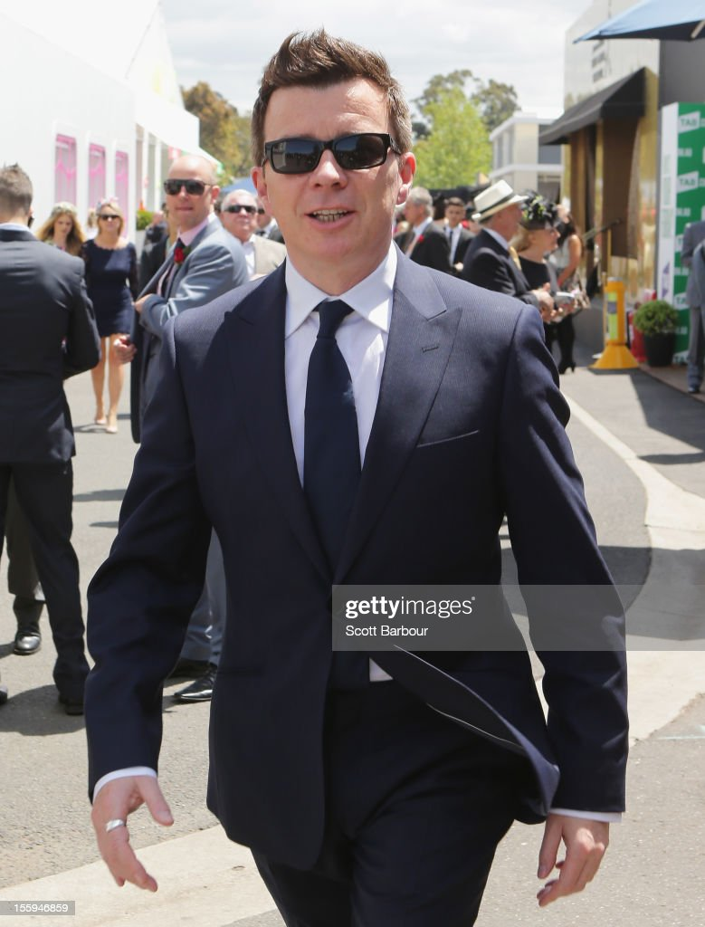 Richard 'Rick' Astley attends Stakes Day at Flemington Racecourse on November 10, 2012 in Melbourne, Australia.