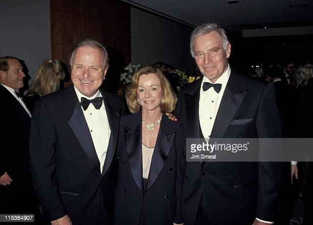 Richard Riordan Nancy Daly and Charlton Heston during 50th Anniversary Party For Charlton Heston and Lydia Heston at Hotel Nikko in Beverly Hills...