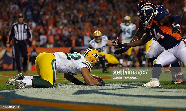 Richard Rodgers of the Green Bay Packers is seen in the fourth quarter against the Denver Broncos at Sports Authority Field at Mile High on November...