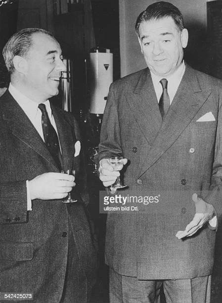 Richard Rodgers*Musiker Komponist USAmit seinem Kollegen Oscar Hammerstein 1956