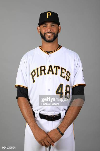 Richard Rodriguez of the Pittsburgh Pirates poses during Photo Day on Wednesday February 21 2018 at LECOM Park in Bradenton Florida