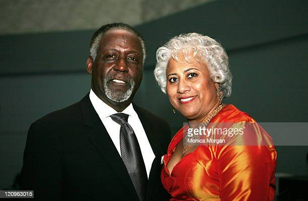 Richard Roundtree and Monica Emerson, Exec. Director Corporate Diversity Office, Dailmer Chrysler