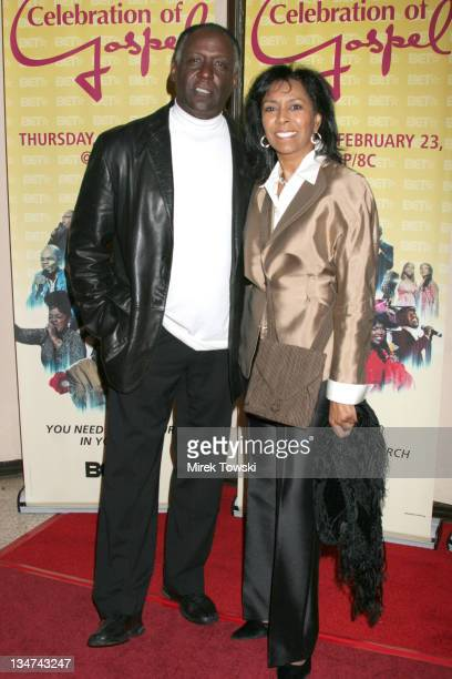 """Richard Roundtree and Sheila Frazier during BET's celebration of Gospel at the """"Ebell"""" Theater - January 28, 2006 at Ebell Theater in Los Angeles,..."""
