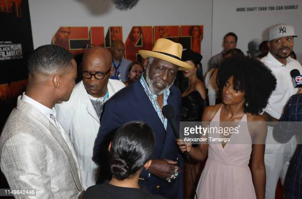 "Richard Roundtree attends the ""Shaft"" Opening Night Premiere of The American Black Film Festival on June 12, 2019 in Miami, Florida."