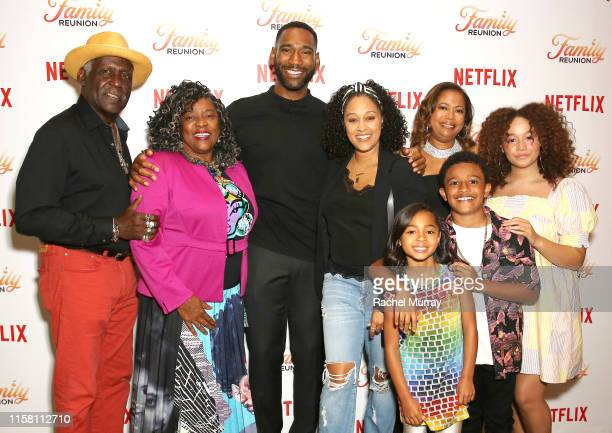 Richard Roundtree Loretta Devine Anthony Alabi Tia Mowry Jordyn Raya James Executive Producer Meg DeLoatch Cameron J Wright and Talia Jackson attend...