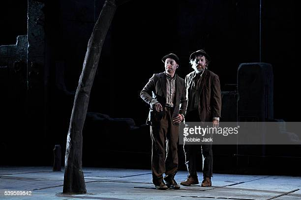 Richard Roxburgh as Estragon and Hugo Weaving as Vladimir in Sydney Theatre Company's production of Samuel Beckett's Waiting for Godot directed by...