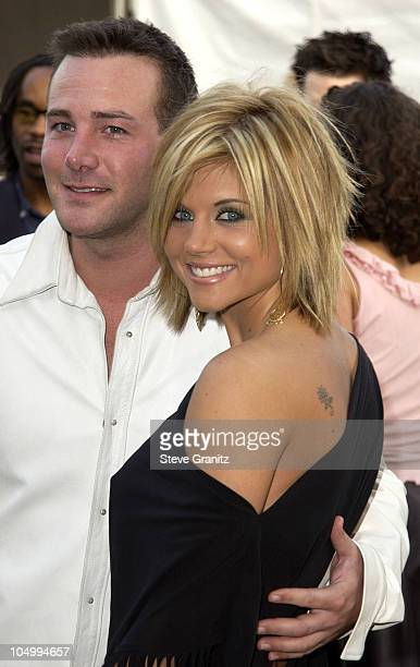 richard Ruccolo and Tiffani Thiessen during The 29th Annual American Music Awards Arrivals at The Shrine Auditorium in Los Angeles California United...