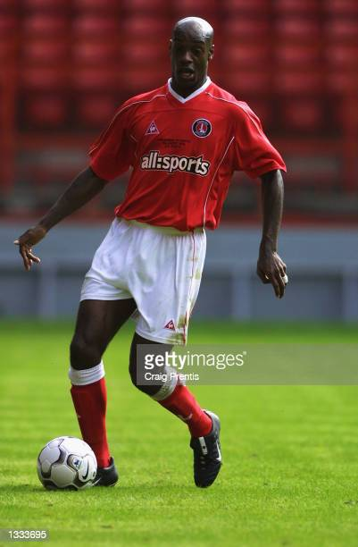 Richard Rufus of Charlton Athletic on the ball during the John Robinson Testimonial match between Charlton Athletic and FC Porto at The Valley in...