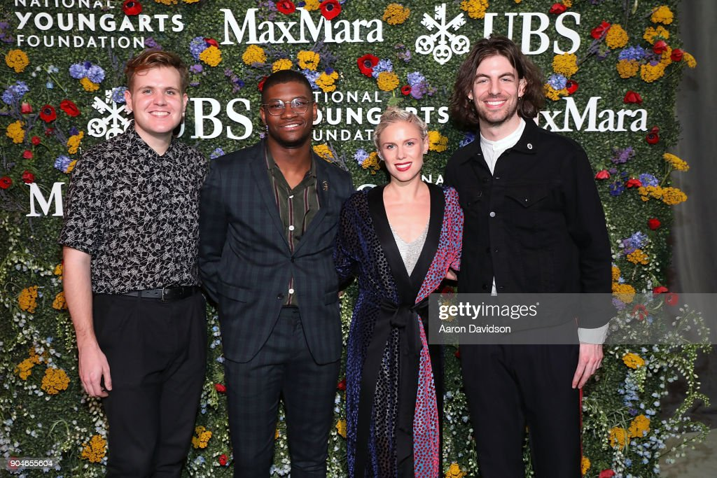Richard Saunder, Elliott Skinner, Grace Weber, and Ben Lusher attend National YoungArts Foundation Backyard Ball Performance and Gala 2018 on January 13, 2018 in Miami, Florida.