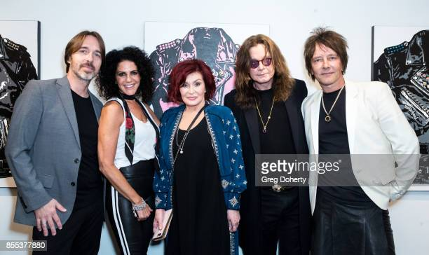 Richard Scarry Elisabeth Weinstock Sharon Osbourne Ozzy Osbourne and Billy Morrison attend the Billy Morrison Aude Somnia Solo Exhibition at...