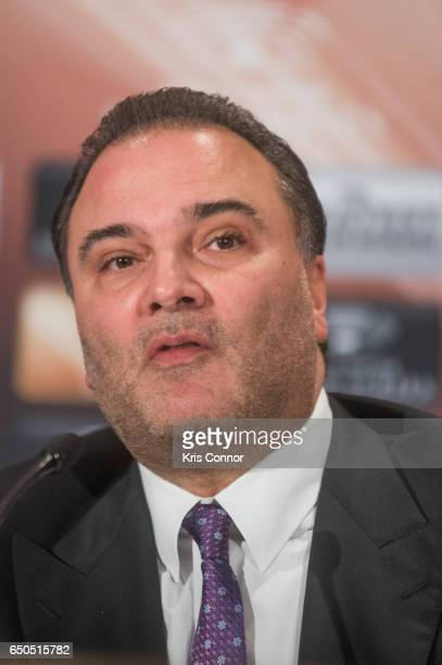 Richard Schaefer Comosa's Chairman of the Americas speaks during a press conference to announce the World Boxing Super Series at The Pierre Hotel on...