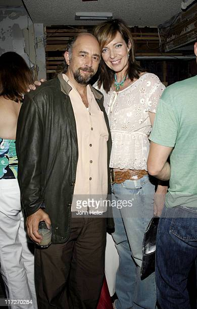 Richard Schiff and Allison Janney during 2005 Los Angeles Film Festival Angeleno Magazine Party at The Shelter in Hollywood California United States