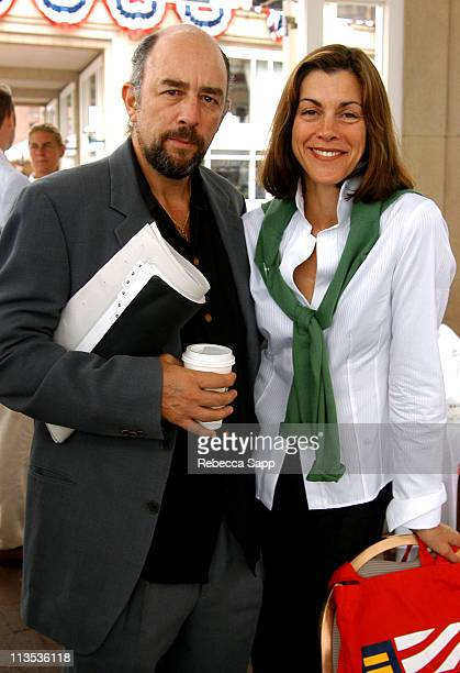 Richard Schiff and Wendie Malick during The Creative Coalition's Private Luncheon and Briefing with Congressman Edward Markey and Senator Joe Biden...