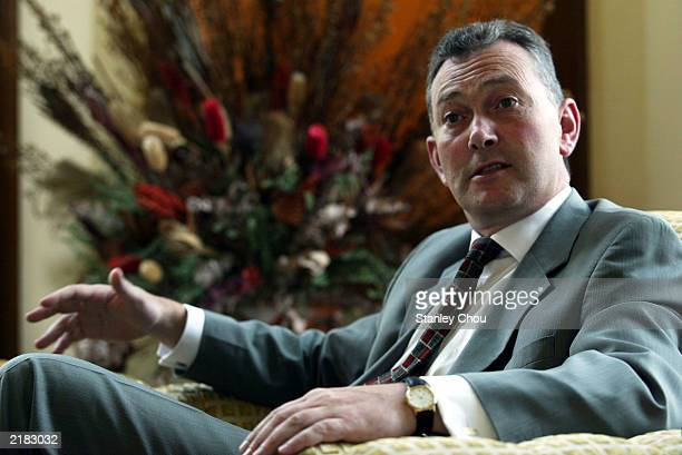 Richard Scudamore, Chief Executive of the F.A. Premier League speaks during an interview held at the Palace of the Golden Horses Hotel on July 22,...