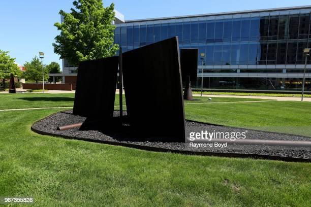 Richard Serra's 'Mozarabe' sculpture sits inside The Josephine F. Ford Sculpture Garden in Detroit, Michigan on May 25, 2018. MANDATORY MENTION OF...