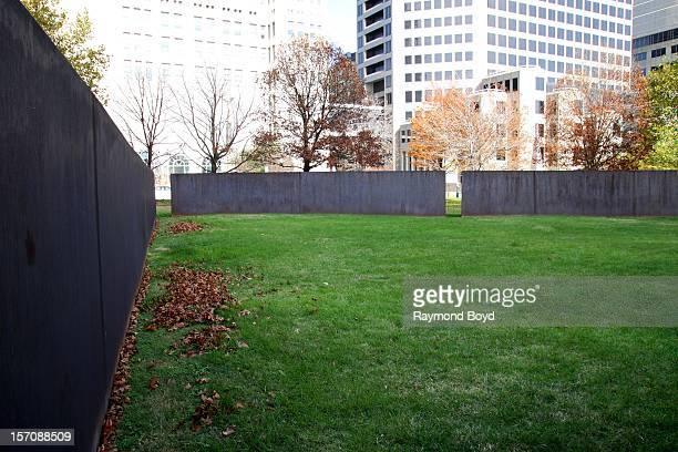 "Richard Serra's ""Twain"" sculpture, in St. Louis, Missouri on NOVEMBER 02, 2012."