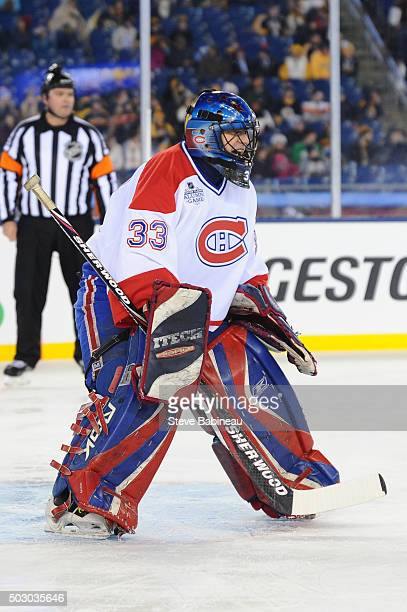 Richard Sevigny of the Montreal Canadiens against the Boston Bruins in the alumni game December 31 2015 during 2016 Bridgestone NHL Winter Classic at...