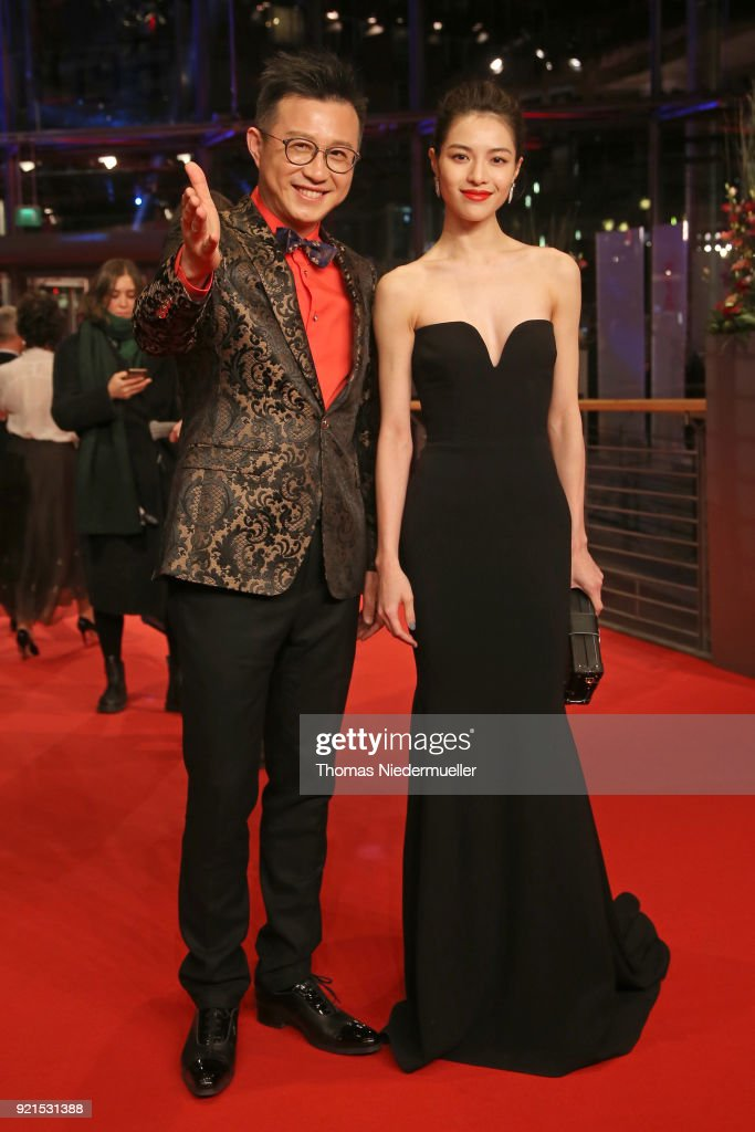 Richard Shen and Elane Zhong Chuxi attend the 'Don't Worry, He Won't Get Far on Foot' premiere during the 68th Berlinale International Film Festival Berlin at Berlinale Palast on February 20, 2018 in Berlin, Germany.