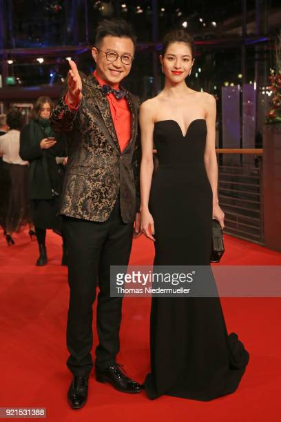 Richard Shen and Elane Zhong Chuxi attend the 'Don't Worry He Won't Get Far on Foot' premiere during the 68th Berlinale International Film Festival...
