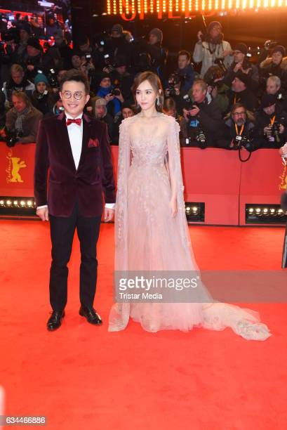 Richard Shen and Tang Yan aka Tiffany Tang attend the 'Django' Premiere 67th Berlinale International Film Festival on February 9 2017 in Berlin...
