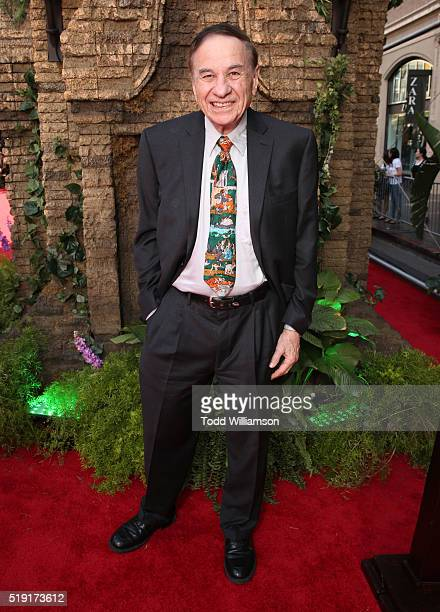 Richard Sherman attends the premiere of Disney's The Jungle Book at the El Capitan Theatre on April 4 2016 in Hollywood California