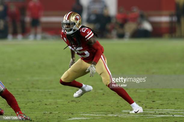 Richard Sherman of the San Francisco 49ers in action during the game against the New York Giants at Levi Stadium on November 11 2018 in Santa Clara...