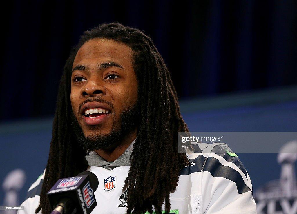 Seattle Seahawks Super Bowl XLVIII Media Availability : News Photo