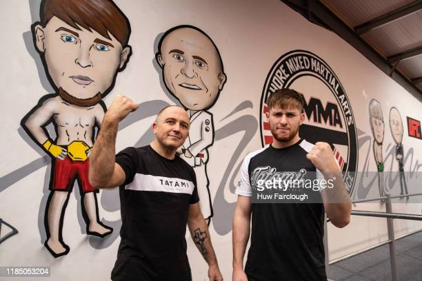 Richard Shore left with his son Jack Shore at the opening of Shore Mixed Martial Arts on November 2 2019 in Abertillery Wales
