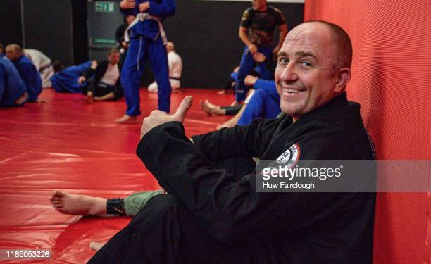 Richard Shore looking pleased at the opening of Shore Mixed Martial Arts on November 2 2019 in Abertillery Wales