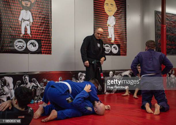Richard Shore oversees the Ju Jitsue class at the opening of Shore Mixed Martial Arts on November 2 2019 in Abertillery Wales