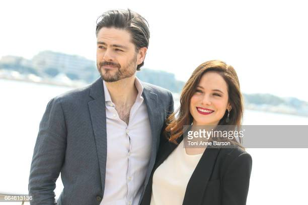 Richard Short and Caroline Dhavernas attend 'Mary Kills People' Photocall during MIPTV 2017 on April 3 2017 in Cannes France