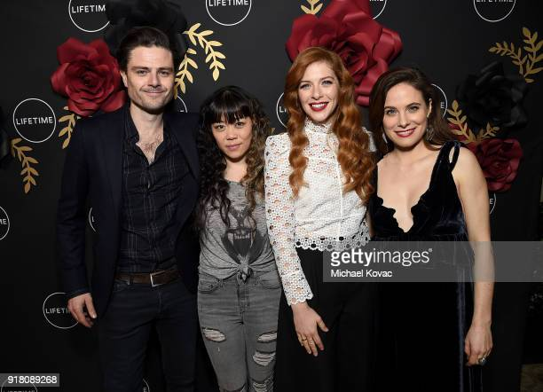 Richard Short Grace Lynn Kung Rachelle Lefevre and Caroline Dhavernas attend The Cast and Executive Producers from Lifetime's shows' 'Mary Kills...