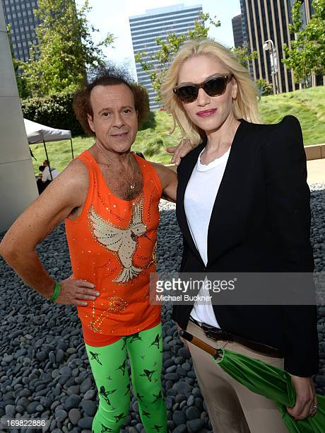 Richard Simmons and Gwen Stefani attend the Elizabeth Glaser Pediatric AIDS Foundation's 24th Annual A Time For Heroes at Century Park on June 2 2013...
