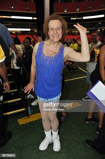 Richard Simmons attends the 2010 World Fitness Day at the Georgia Dome on May 1 2010 in Atlanta Georgia