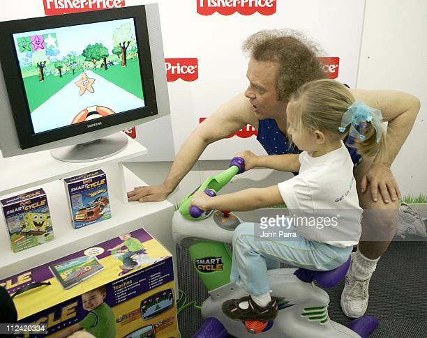 Richard Simmons during Richard Simmons Unveils New FisherPrice Smart Cycle February 8 2007 in New York City New York United States