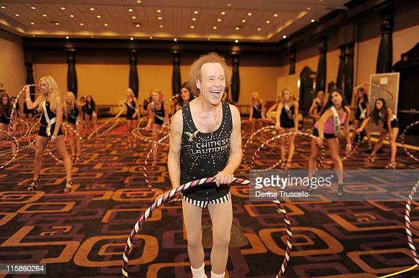 Richard Simmons during the 2011 Miss USA hula hoop contest Mile Shops on June 10 2011 in Las Vegas Nevada