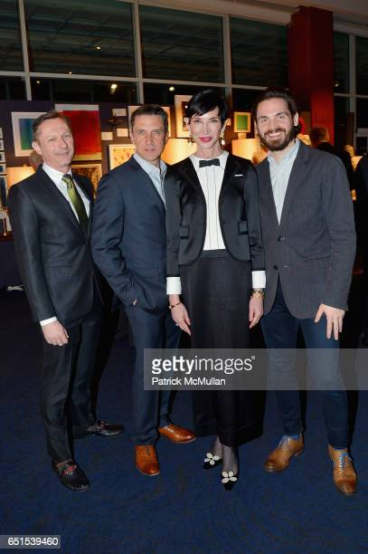 Richard Slusarczy Raul Esparza Amy Fine Collins and Bill Curran attend the Bailey House Gala Auction 2017 at Pier Sixty at Chelsea Piers on March 9...